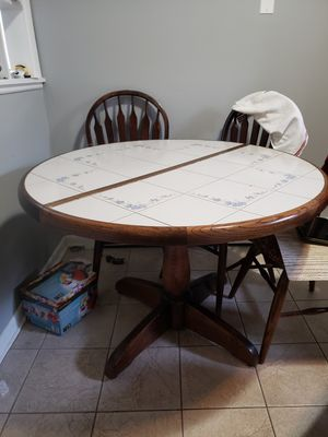 Wood table + Sofa for Sale in Schiller Park, IL