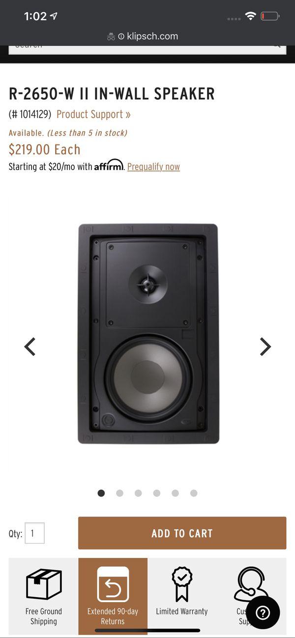 Klipsch R-2650-W II - Brand New In Box