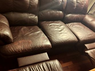 Dark Chocolate Sofa w/ Reclining Ends for Sale in Salem,  MA