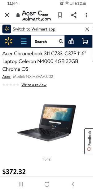 Acer chromebook 2 n 1 flip screen for Sale in Seattle, WA