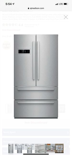 """Bosch Stainless Steel Counter depth 36"""" 20.7 French Door Refrigerator B21CL80SNS for Sale in Newcastle, WA"""