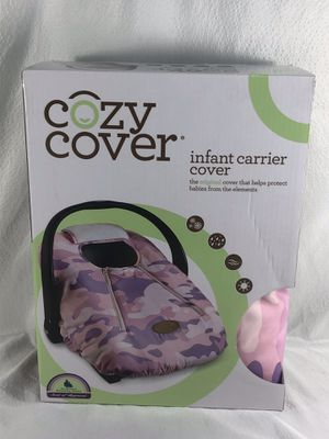 Pink and Lavender Camouflage New in Box Cozy Cover Infant Carrier Cover for Sale in Atlanta, GA