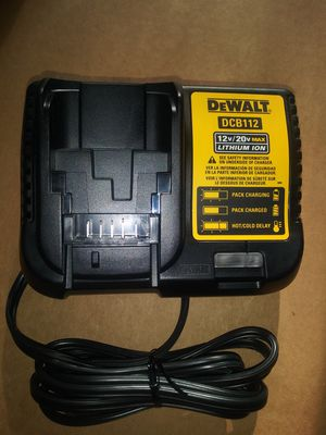 Dewalt 12 20 volts charger dcb112 for Sale in Forest Park, GA