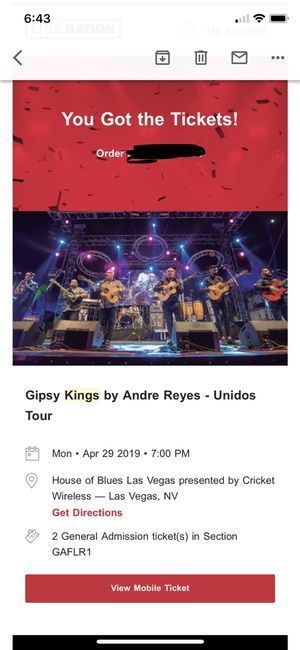 Gipsy Kings tickets for Sale in Poway, CA