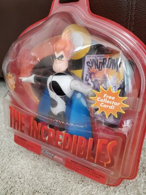 Incredibles Action Figure/Syndrome/Pixar/Disney Store for Sale in Huntington Beach, CA