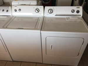 Whirlpool washer and electric dryer. WELCOME CREDIT CARDS 💳 for Sale in El Paso, TX