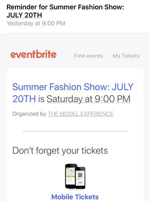 Fashion show tickets for Sale in Riverside, CA