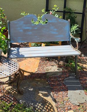 Antique Cast Iron & Wood Garden Bench for Sale in Cocoa, FL
