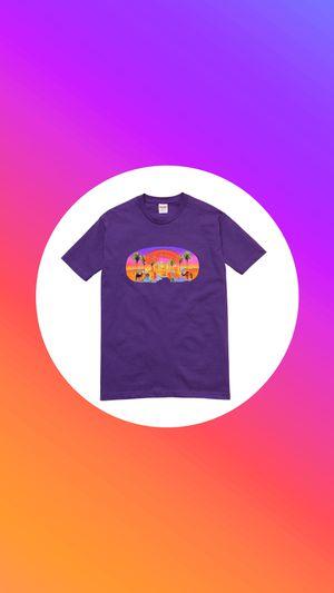 "Supreme ""Mirage"" T-Shirt - Purple for Sale in Las Vegas, NV"