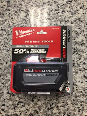 Brand new Milwaukee 48-11-1812 M18 RedLithium High Output HD12.0 battery #16188-1 for Sale in Boston, MA