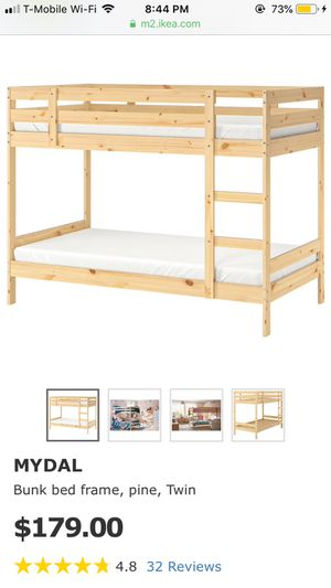 IKEA MYDAL twin bunk bed for Sale in Berkeley, CA