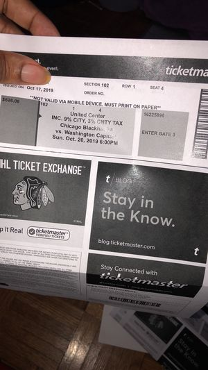 Blackhawk tickets for Sale in Chicago, IL