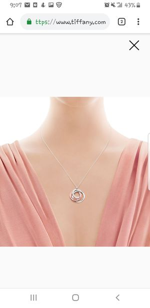 Tiffany & Co Necklace interlock for Sale in San Diego, CA