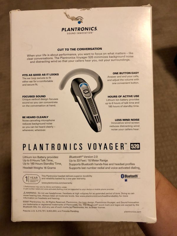 92299d13eff Plantronics Voyager 520 Bluetooth Headset for Sale in Roseville, CA ...