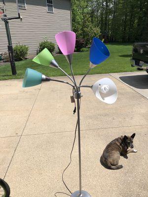Fun multi-colored floor lamp for Sale in Aurora, OH