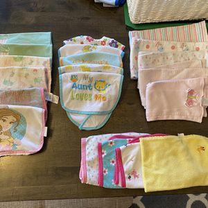 Baby Girl Burp Cloth/ Bib Lot for Sale in McFarland, WI