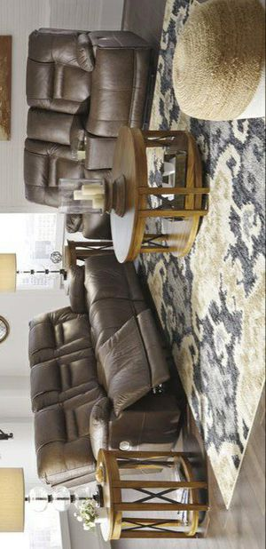 🍃good price🍃[EXCLUSIVE] Wurstrow Umber Leather Power Reclining Living Room Set for Sale in Columbia, MD