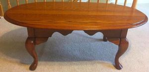 Solid Oak Oval Coffee Table for Sale in Raleigh, NC