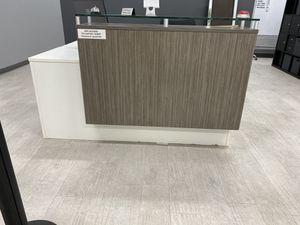 White & gray wood lobby desk for Sale in Monrovia, CA