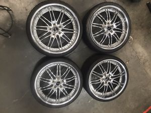 4 TIRES WITH RIMS BM13-L SAVINI BLACK D FORZA for Sale in Lake Forest, CA