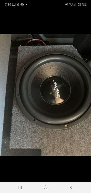 "2 speakers & Box (Skar IX 12"" for Sale in Amarillo, TX"