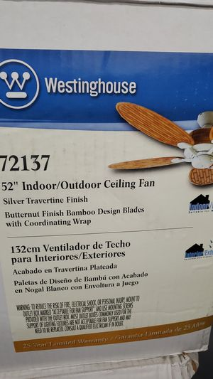 "Westinghouse 52"" Indoor Outdoor Ceiling Fan New for Sale in Loves Park, IL"