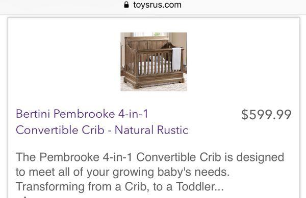 Bertini Pembrooke 4 In 1 Convertible Crib Natural Rustic Bedroom