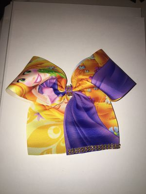 Medium Disney Rapunzel Cheer Bow for Sale in Midway City, CA