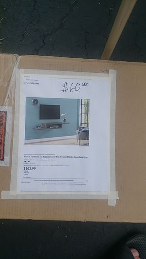 """Martin Furniture 60"""" wall mounted tv stand for Sale in Columbus, OH"""