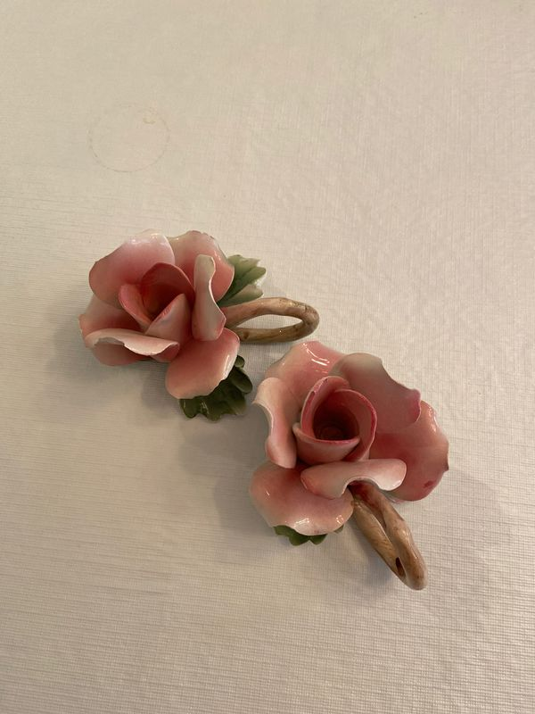 Capodimonte Rose Candle Holders