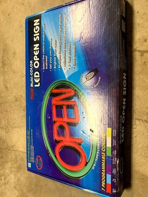 LED multicolored open sign for Sale in Raleigh, NC