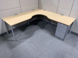 Corner Desk in Maple with Aluminum legs #72 for Sale in Los Angeles, CA