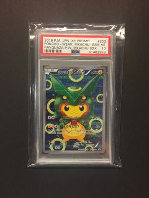 Pokemon cards pikachu rayquaza poncho wear Psa 10 for Sale in Westminster, CO