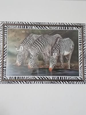 Black and whit trim Zebra painting for Sale in North Chesterfield, VA