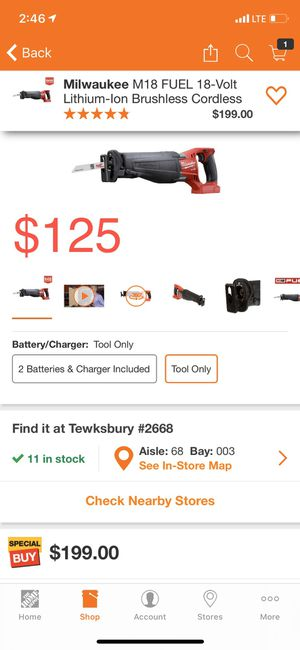 Milwaukee M18 FUEL SAWZALL for Sale in Salem, MA