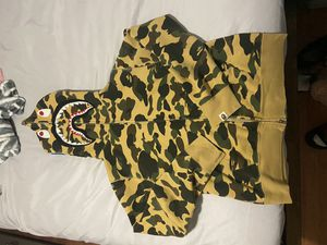 Bape First Color camp shark zip up . Size Medium for Sale in Queens, NY
