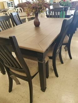 💲39 Down Payment🆕️ Tyler Creek Black/Gray Dining Room Set |7 Piece G456👆IN STOCK👆 for Sale in Alexandria,  VA