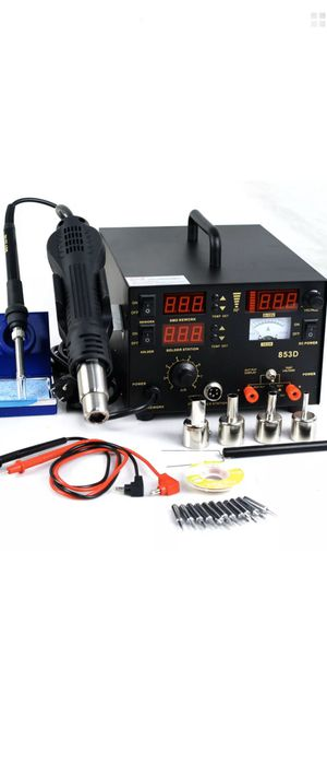 3 in 1 853d SMD DC Power Supply Hot Air Iron Gun Rework Soldering Station for Sale in CARPENTERSVLE, IL