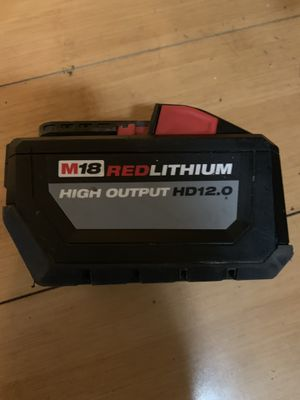 Milwaukee hd12.0 hd 12.0 M18 battery pack 180727 18v 18 volt for Sale in Alameda, CA