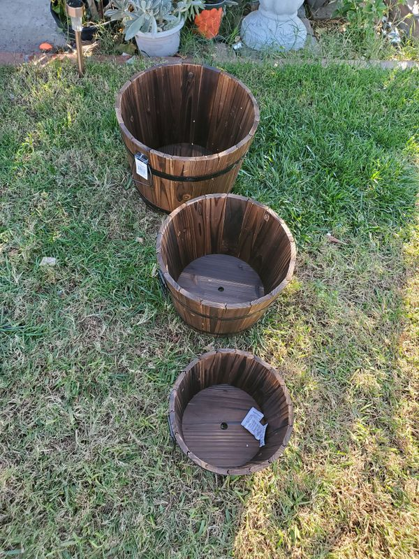 Brand New Apple Barrels All Tree For $45 Measuring 15,13,and,10 Inches Across