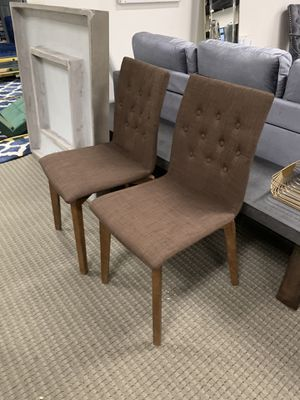 Modern 2pc Brown fabricsDining Chairs for Sale in Alexandria, VA