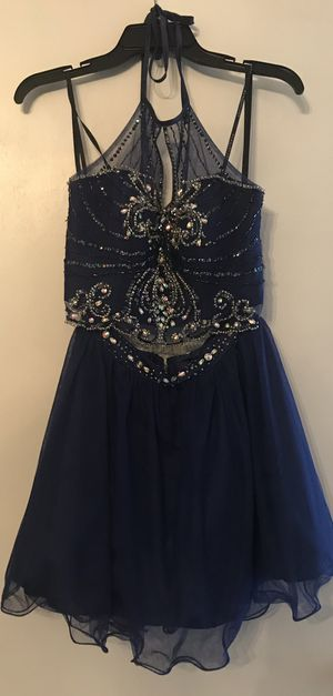 Homecoming/cocktail dress- navy blue- size 3/4 for Sale in Prairieville, LA
