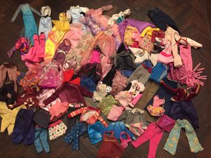 75 pieces of Doll Clothes for Barbie Ken Disney Princess etc. for Sale in Thousand Oaks, CA