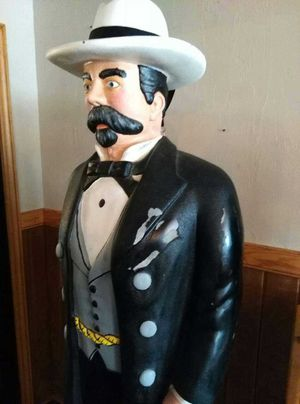 Hand painted statue of Jack Daniel's for Sale in Minocqua, WI