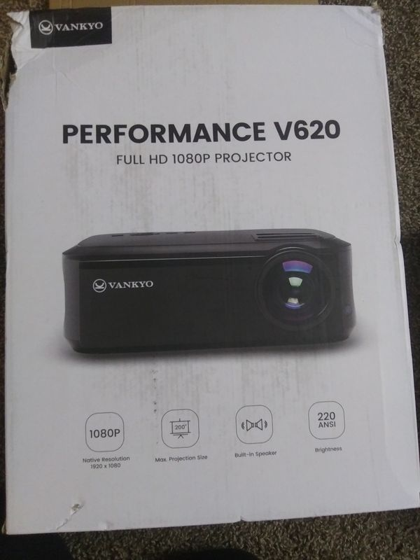VANKYO PERFORMANCE V620 FULL HD 1080P PROJECTOR *BRAND NEW/NEVER USED*