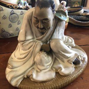 Chinese Mudman Figurine Porcelain Statue for Sale in Miami, FL