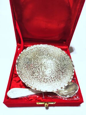 Silver Plated Engraved Brass Artwork Serving Spoon for Sale in Clarksburg, MD