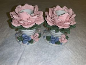 Rose flower candle holder for Sale in Austin, TX