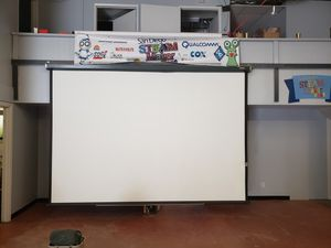 Giant projection screen. 12 ft wide for Sale in San Diego, CA
