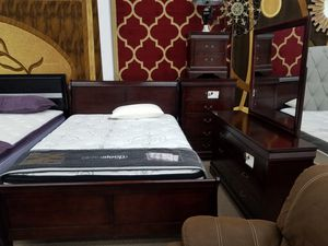 No credit needed queen size 5 piece complete bedroom set for Sale in College Park, MD
